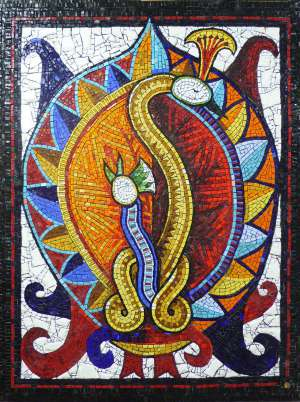 Bharunda Bird wall mosaic