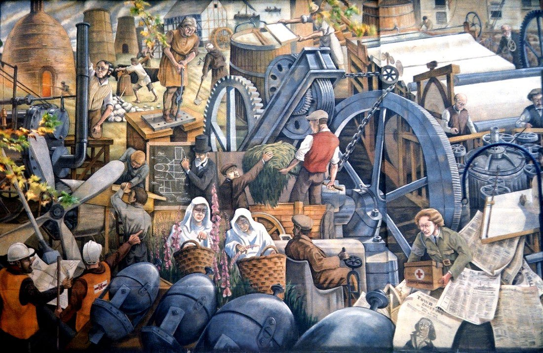 One town that changed the world mural