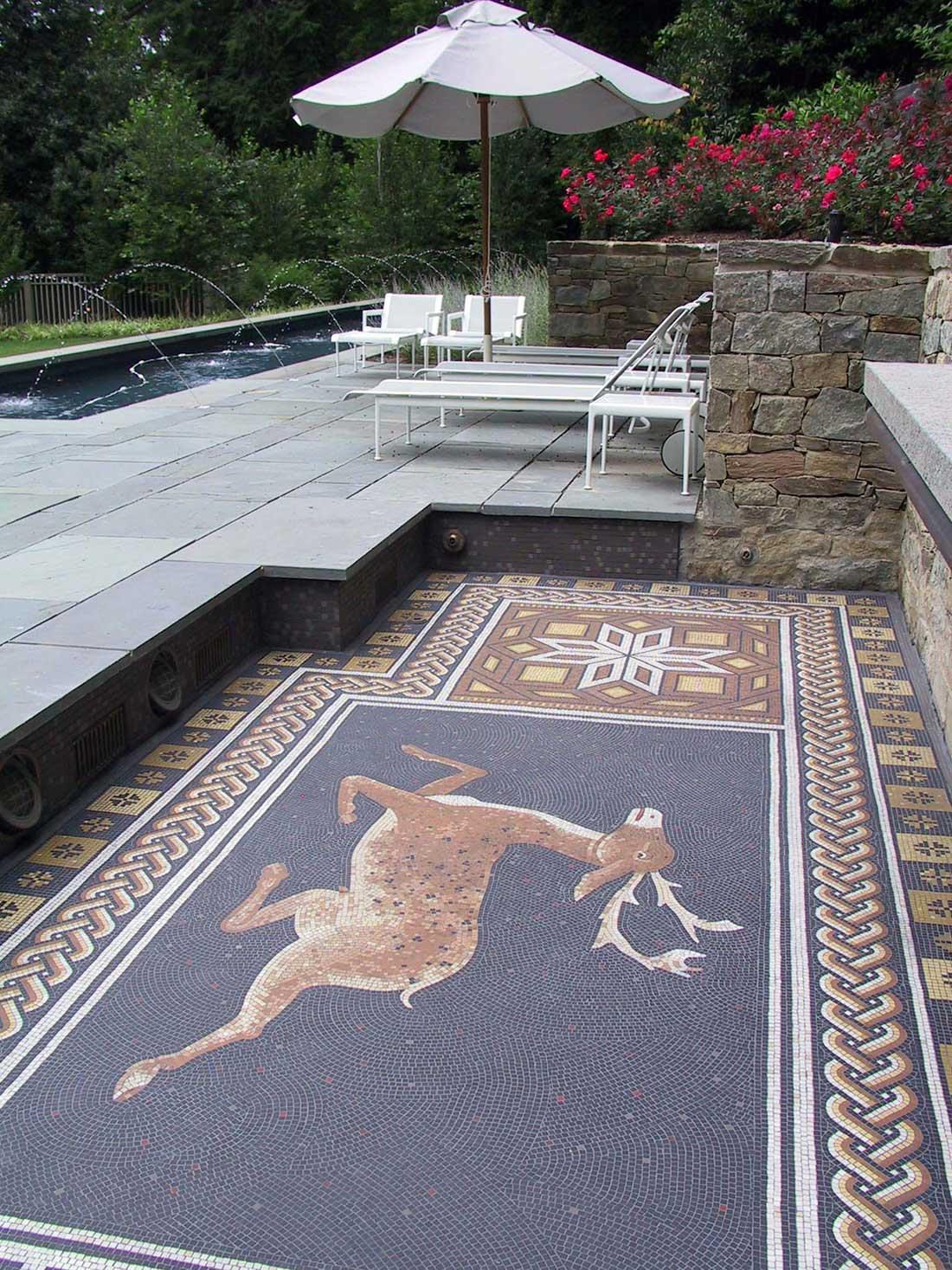 Roman stag floor mosaic