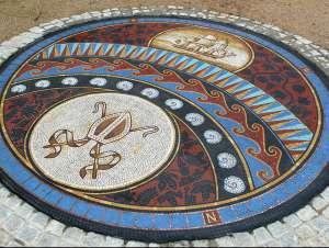 The bishops walk floor mosaic