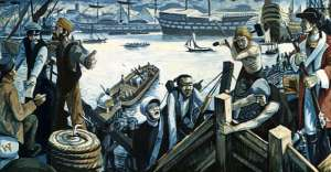 Woolwich waterfront mural