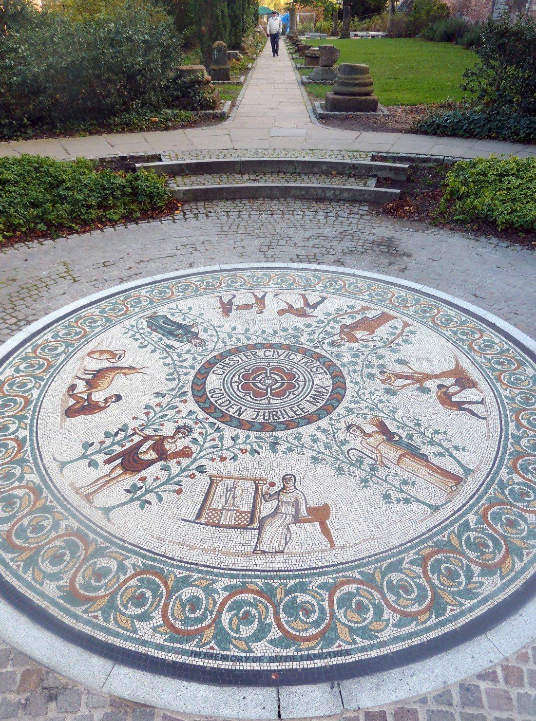 Chester Roman Garden mosaic