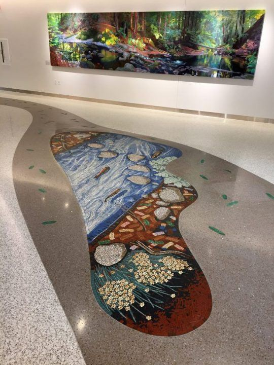 Salmon River mosaic panel