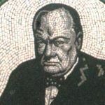 Sir Winston Churchill mosaic portrait