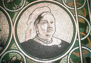 Queen Victoria mosaic portrait