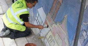 Gary painting Brook Street