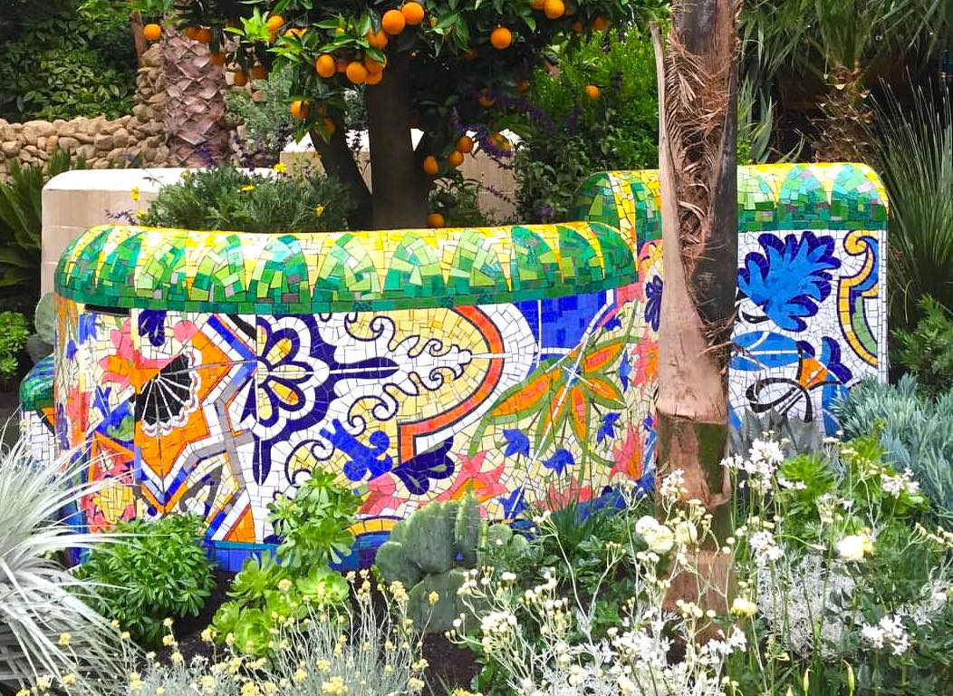 Inspired by Barcelona Mosaic Wall