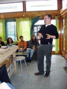 Gary teaching at chicago mosaic school