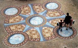 The Wellingborough Wells floor mosaic