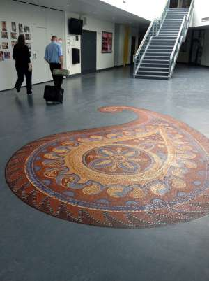 Fabric of our town floor mosaic