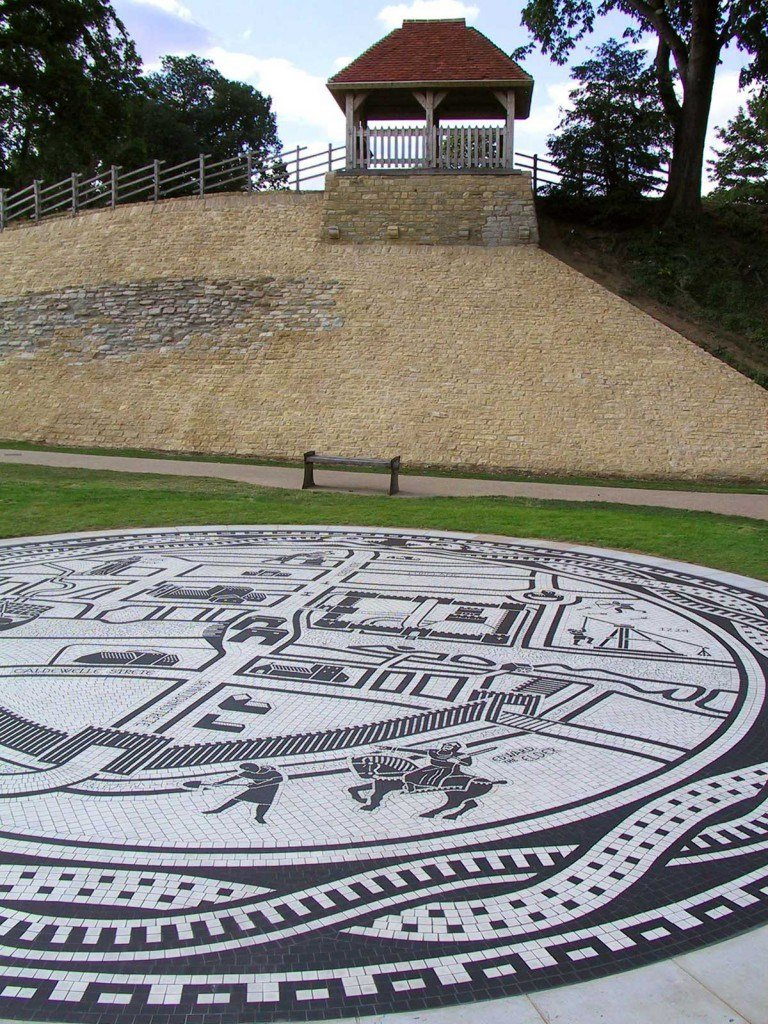 Medieval map floor mosaic