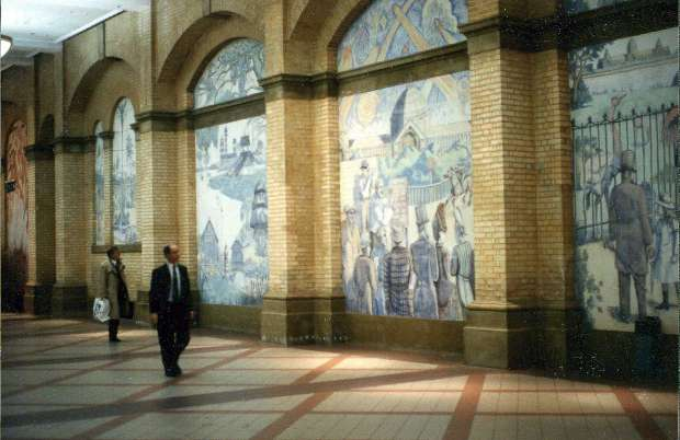 The peoples palace wall mosaic