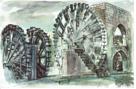 Water wheels of Hama