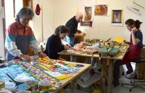 The pop-up studio in Friuli