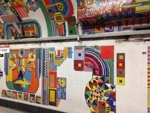 Central Line platform Paolozzi Mosaics