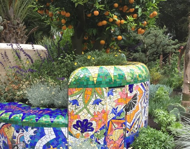 Gary Drostle mosaic wall gold medal at RHS Chelsea