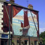 Erith Thames Barge Mural