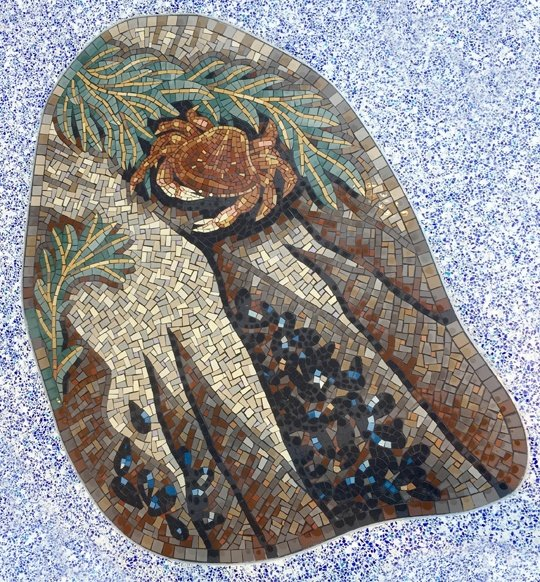 Dungeness Crab and mussels mosaic panel