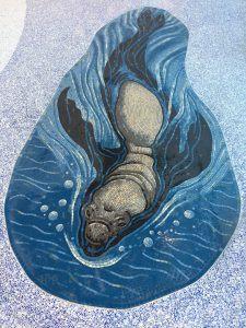 Elephant seal mosaic panel