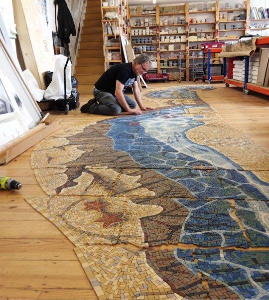 Making the California Seashore mosaics