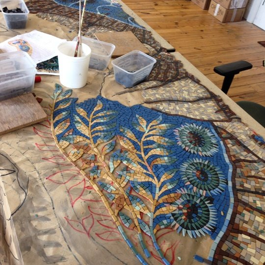 Making the kelp panel mosaic