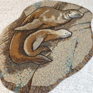 Seal and pup mosaic panel