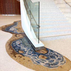 Stair wrap tidepool mosaic