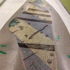 Mountain Lion Tracks Mosaic