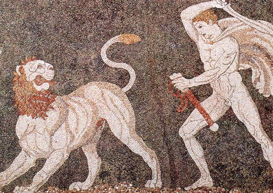 The Lion Hunt Mosaic from Pella - 4th Century BC