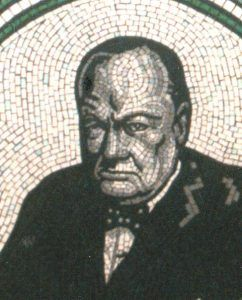 Sir Winston Churchill mosaic portrait
