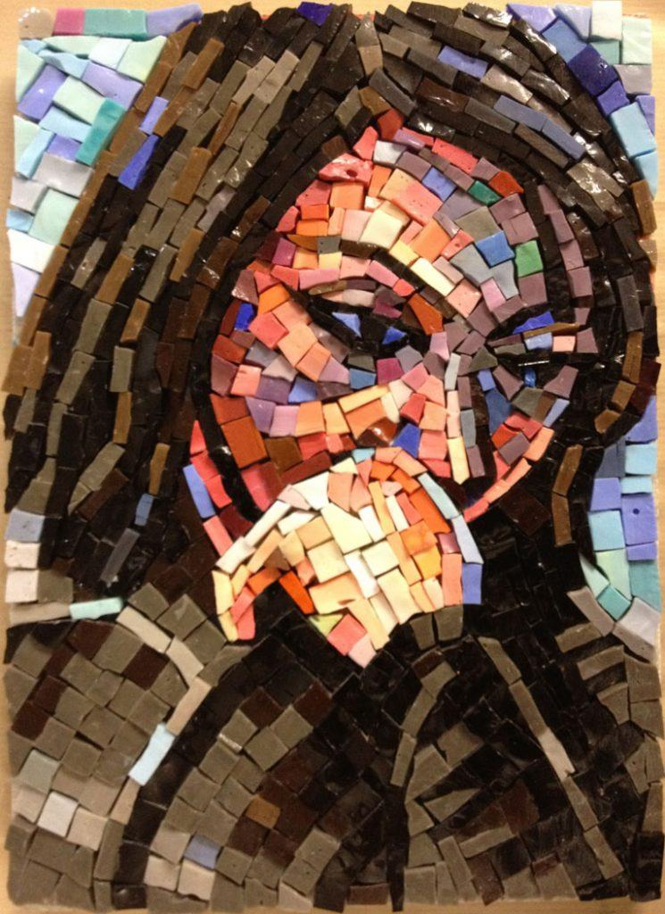 Sketch Mosaic Portrait - Giulia