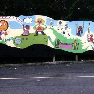School Play Mural
