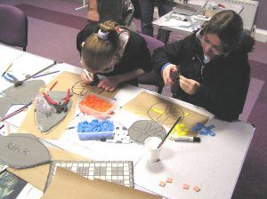 Parallel mosaic workshop with Duke of Edinburgh students