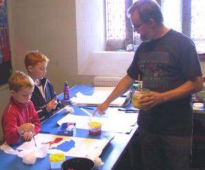 Gary teaching banner workshop