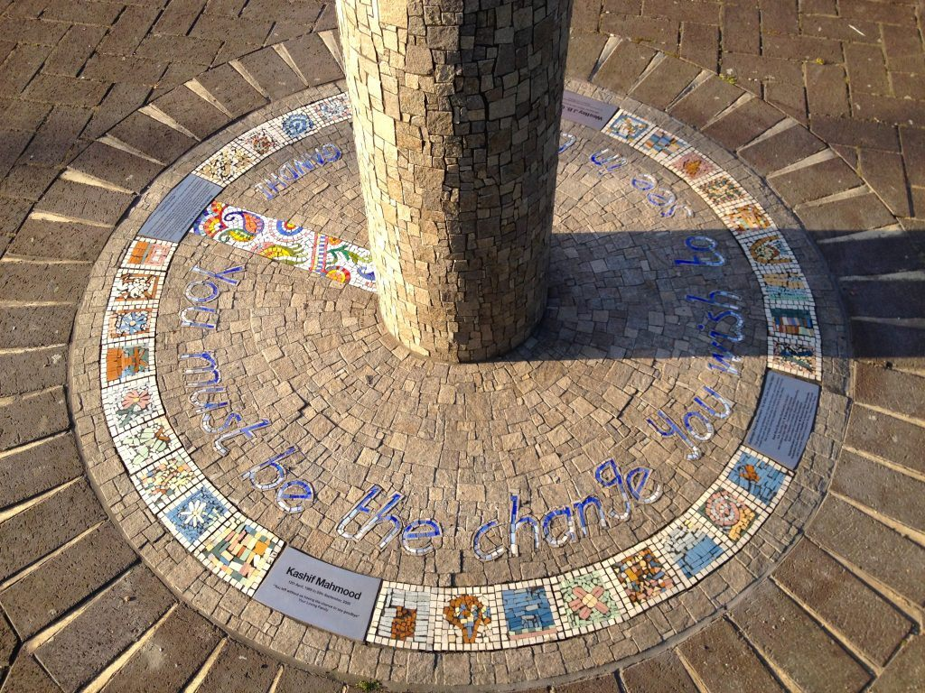 Be the Change - Mosaic memorial column