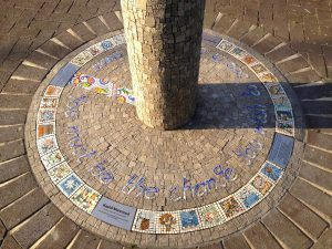 Be the Change - Mosaic memorial column