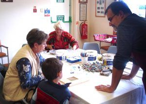 Community mosaic workshop