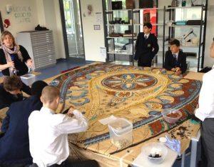 Haberdashers' Crayford mosaic workshop