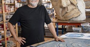 Gary Drostle in his studio by Julian Calder