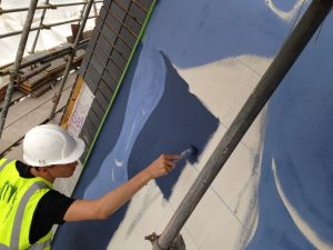 Painting Exterior Mural
