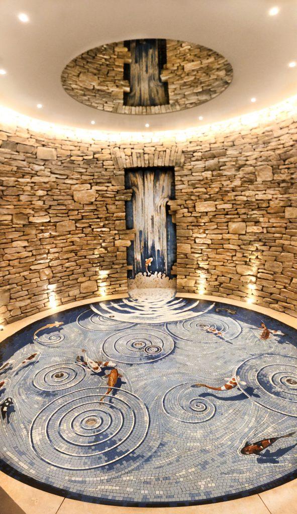 Waterfall koipond mosaic