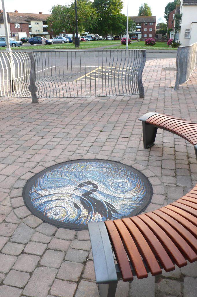 Heron Reflection Mosaic