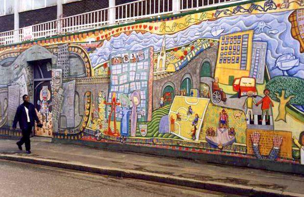 Love Over Gold Mural, Deptford