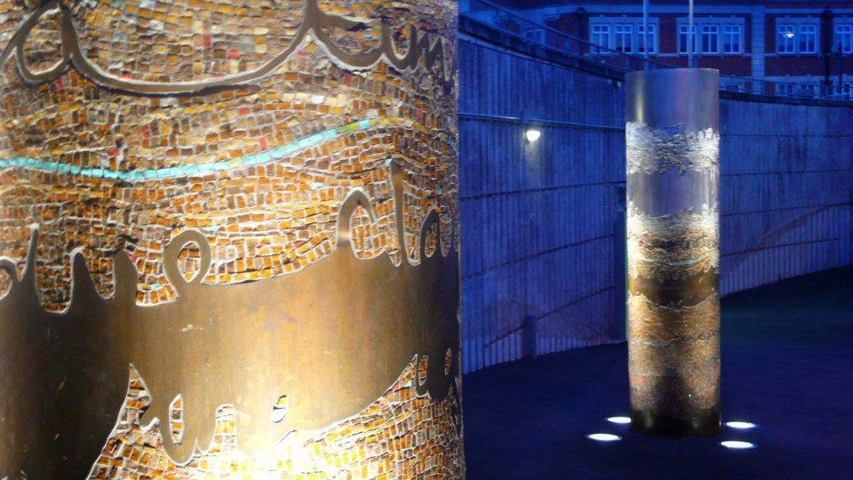 Time & Tides Mosaic Columns, Erith