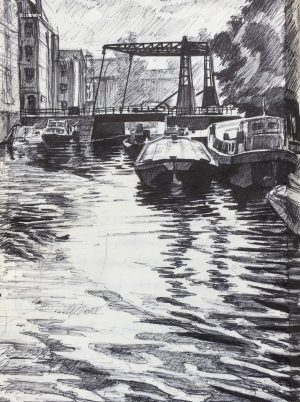 Amsterdam biro drawing