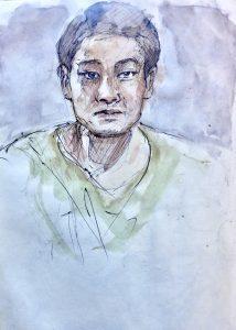 Portrait sketch of Zhan Zhang Hou, Beijing