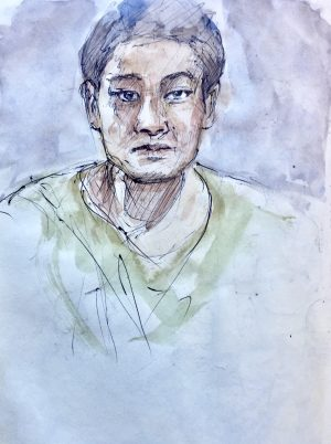 Portrait sketch of Zhan Zhang Hou, Beijing