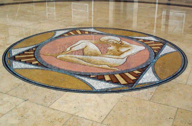 Man Woman diptych mosaics