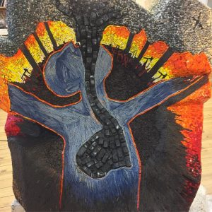 Breathing mosaic sculpture