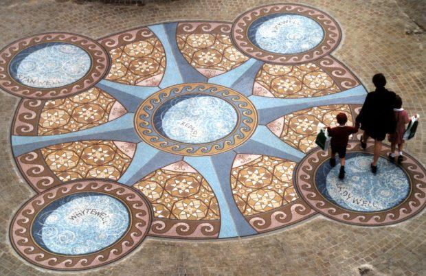 Wellingborough Wells Mosaic - Wallscapes